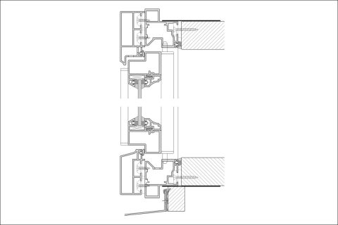 Schnitt Leistenpfostenfenster oben und unten